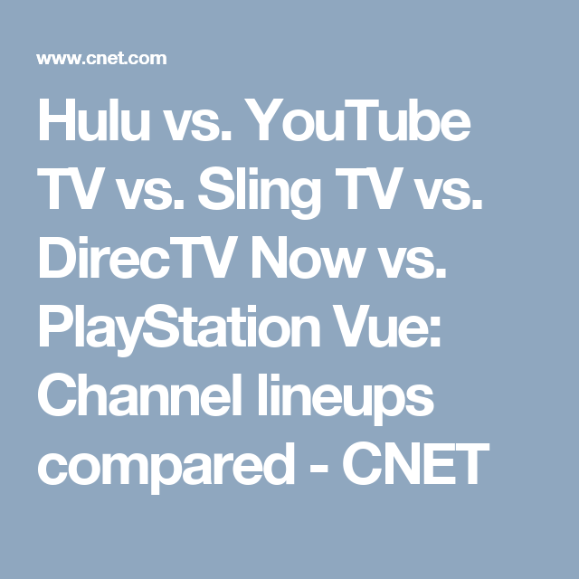 All the live TV streaming services compared: Which has the best