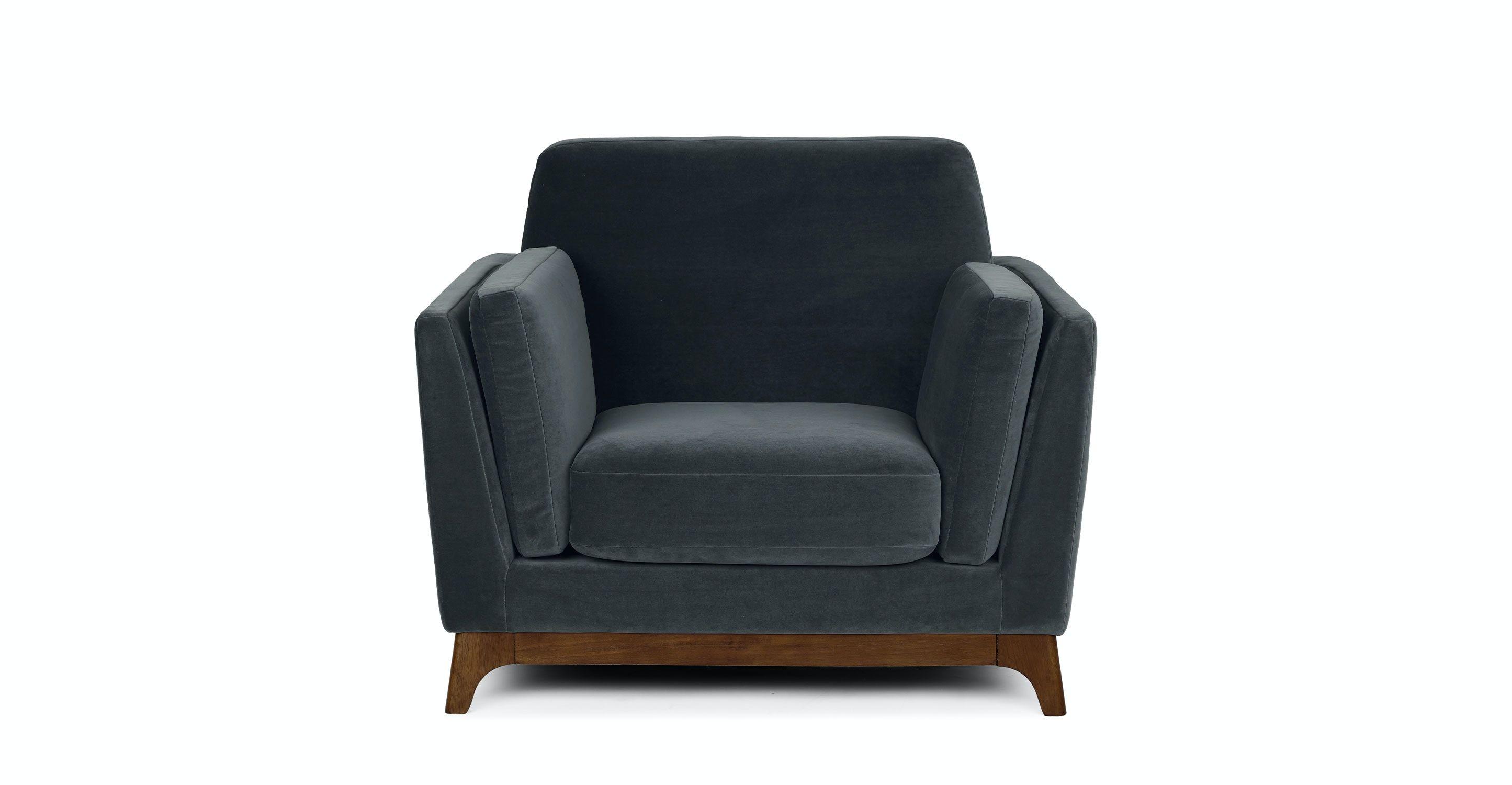 Ceni Deep Sea Blue Armchair In 2020 Blue Armchair Blue Loveseat