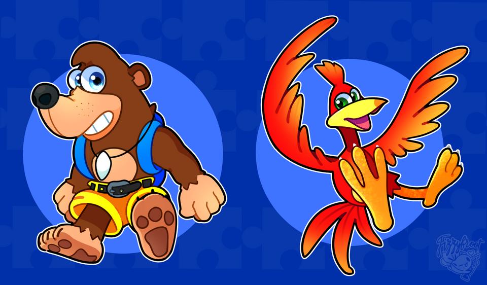 Retro Game Poster For Banjo Kazooie Banjo Memes Viejitos