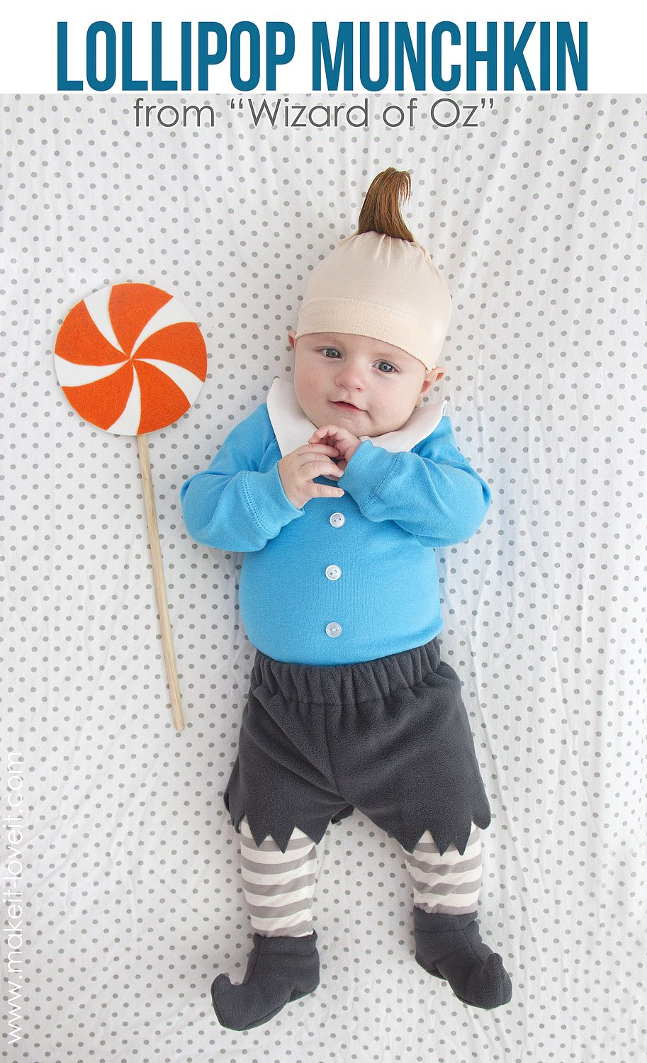 DIY Baby Octopus Halloween Costume, easy to make for a baby girl ...