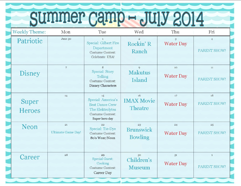Summer Camp Theme Ideas Examples And Forms Summer Camp Themes