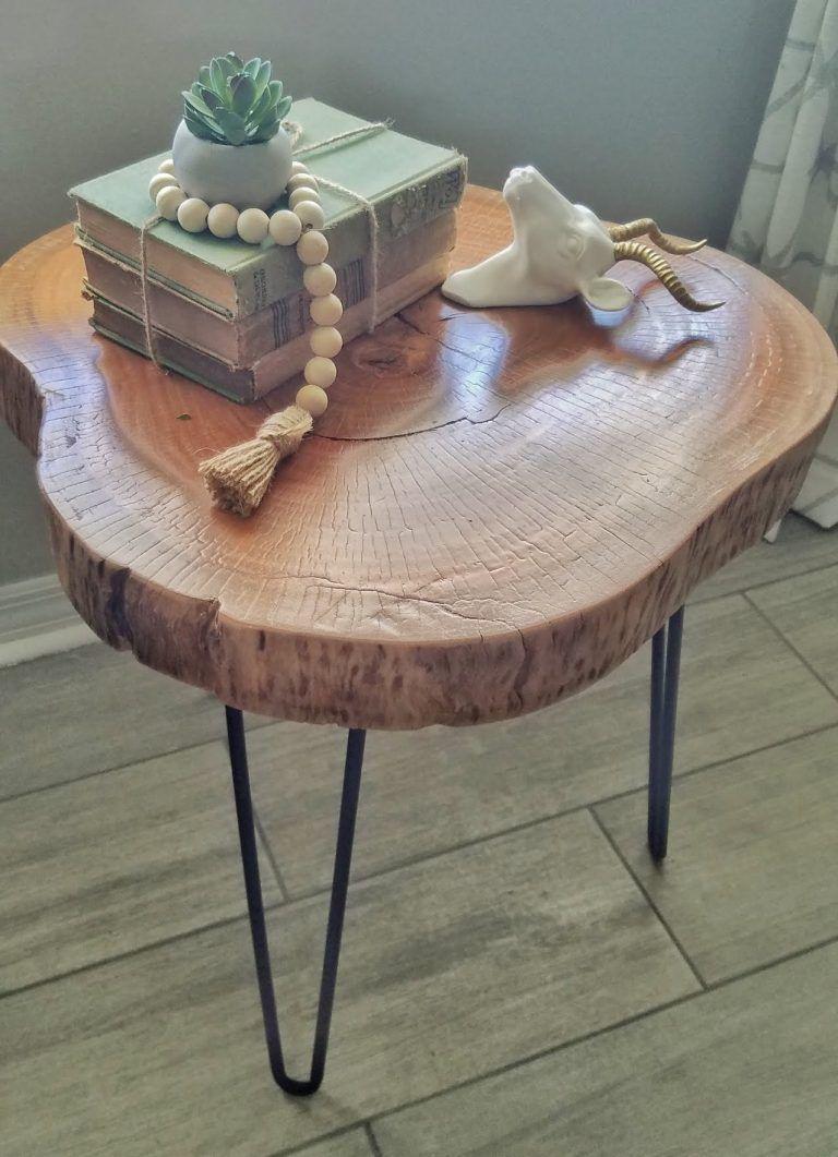 Diy Wood Slice Table Flippin Rustic Wood Slice Decor Wood Slice Coffee Table Wood Diy [ 1061 x 768 Pixel ]