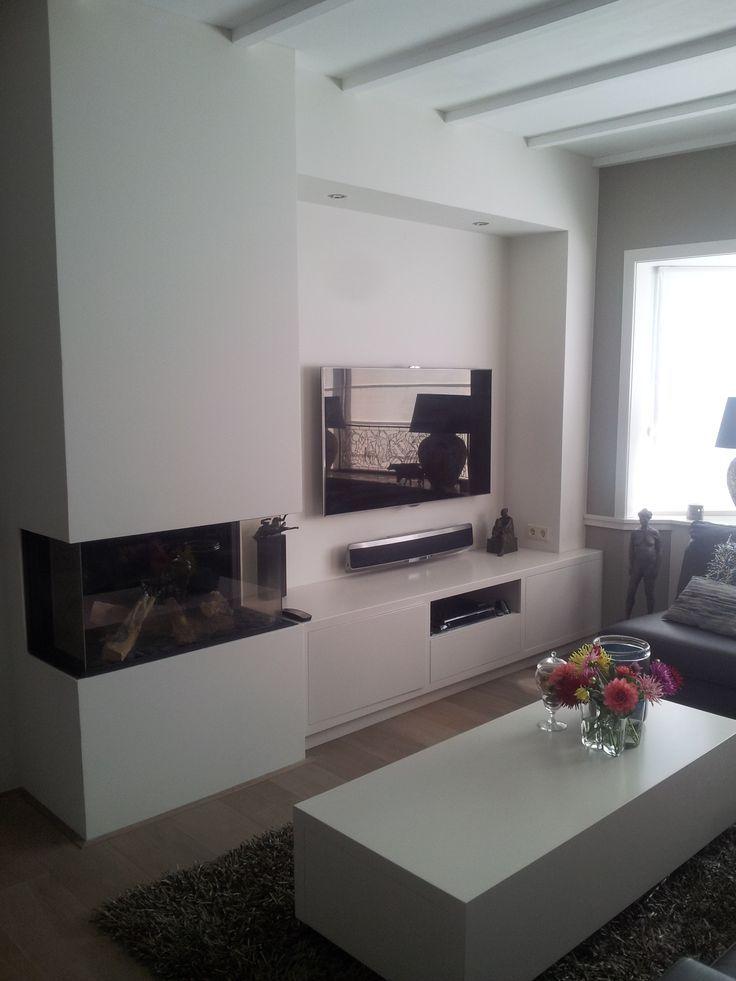 Afbeeldingsresultaat voor tv open haard wandmeubel family rooms pinterest house extensions - Moderne open haard ...