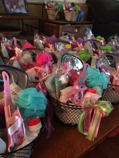 These were the take home gift baskets for the guests they looked so these were the take home gift baskets for the guests they looked so elaborate but were comprised of all things found at the dollar store a mini loofa negle Image collections