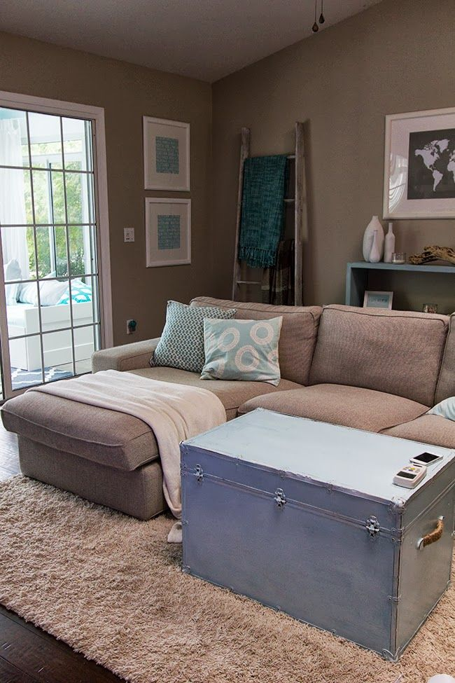 astounding teal brown living room ideas | I love the ladder for blankets teal and neutral living ...