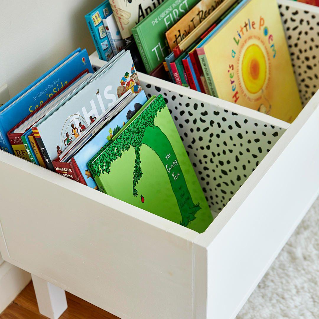 Make This Easy Diy Book Bin For Pretty Playroom Storage Playroom