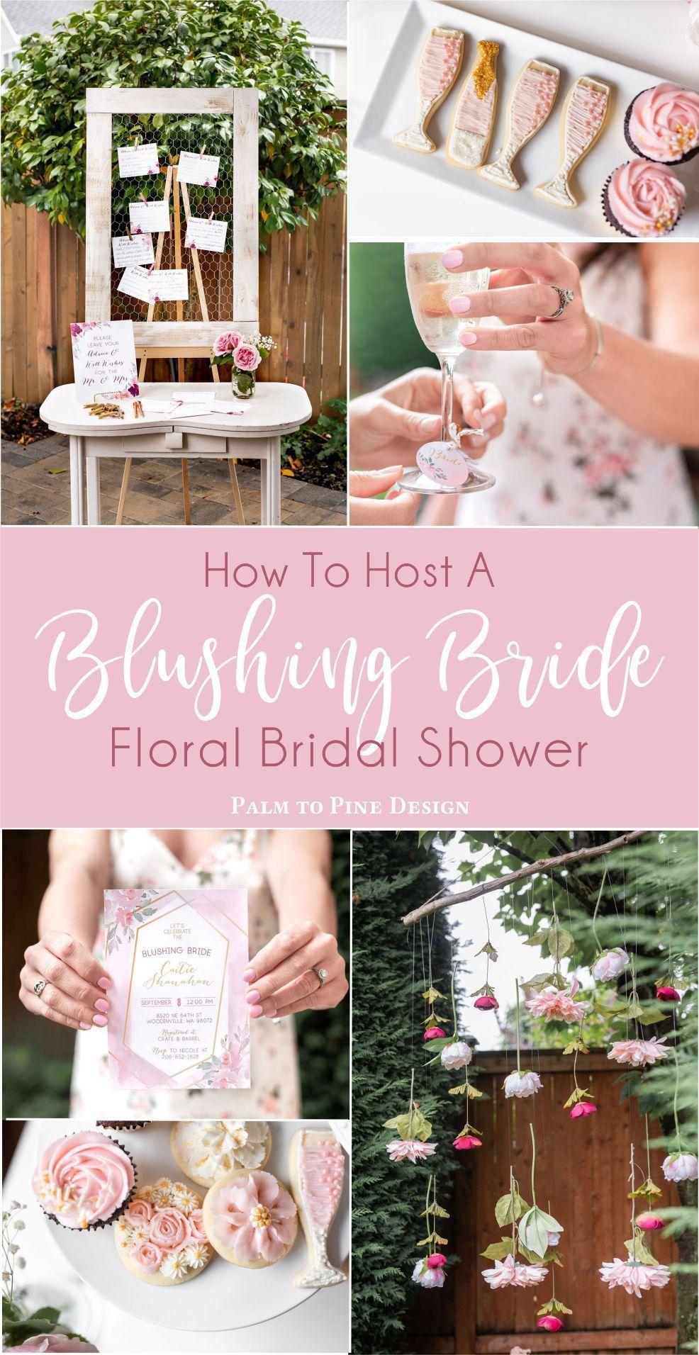 Blushing Bride Bridal Shower | Floral Bridal Shower | Champagne Wall | Rosé Bridal Shower