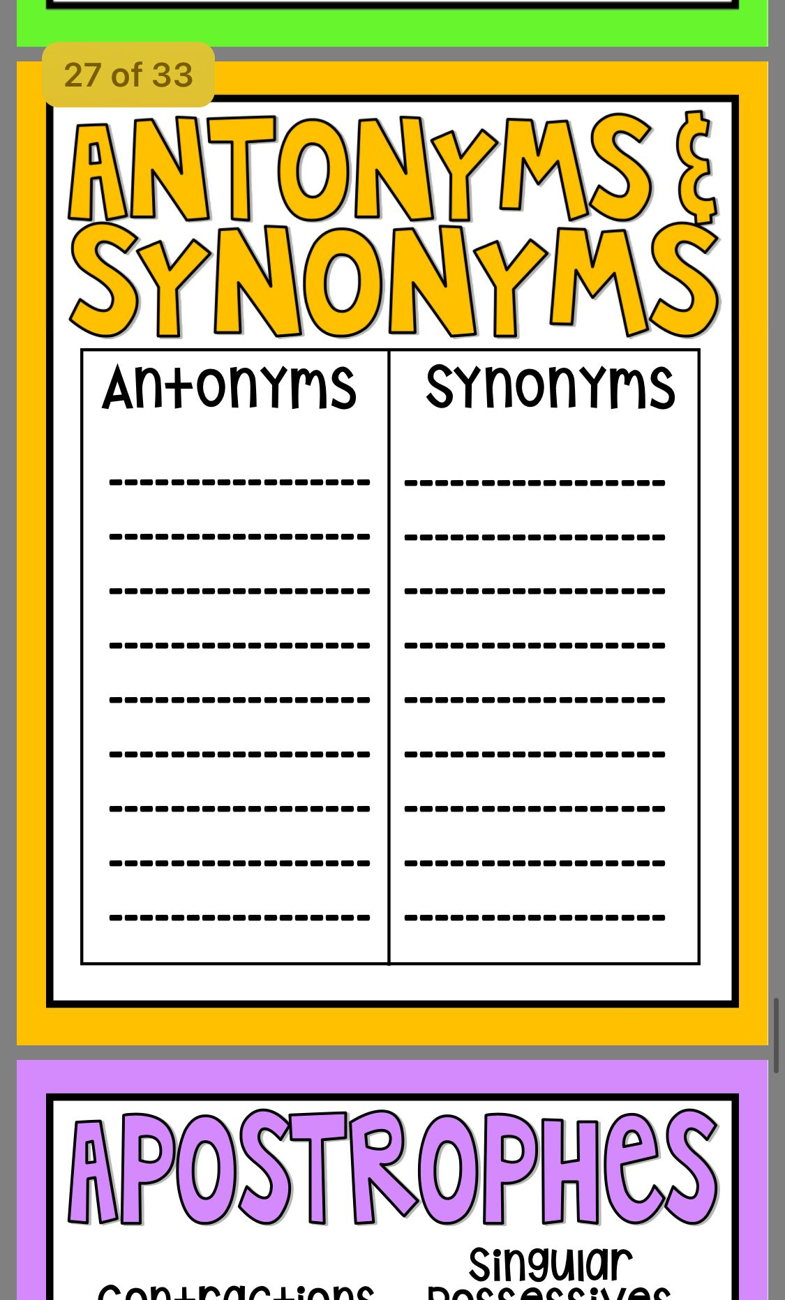 Synonym Klasse
