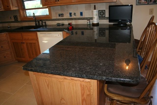 Eased Edge Granite Countertop With Rounded Corner Google Search