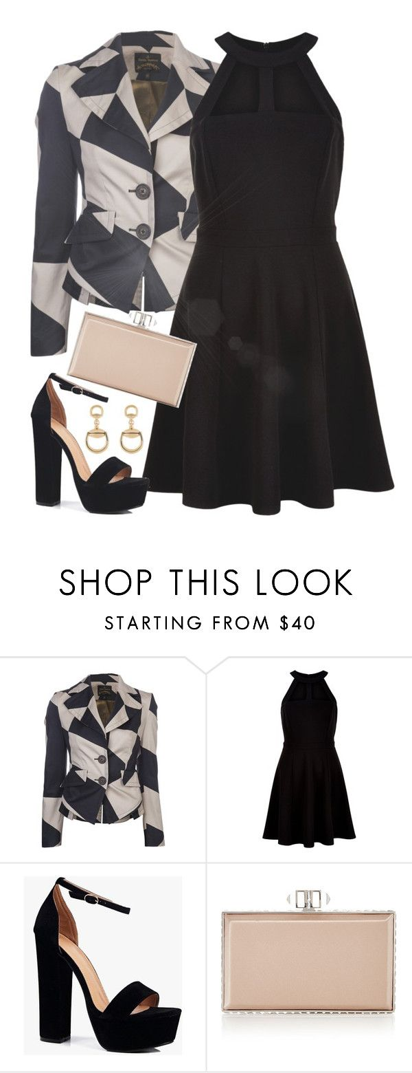 """""""Untitled #354"""" by music-and-fashion-111 ❤ liked on Polyvore featuring Vivienne Westwood Anglomania, New Look, Boohoo, Judith Leiber and Gucci"""