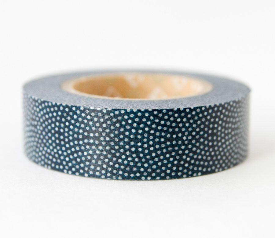 Navy Blue Sharkskin Dots Washi Tape