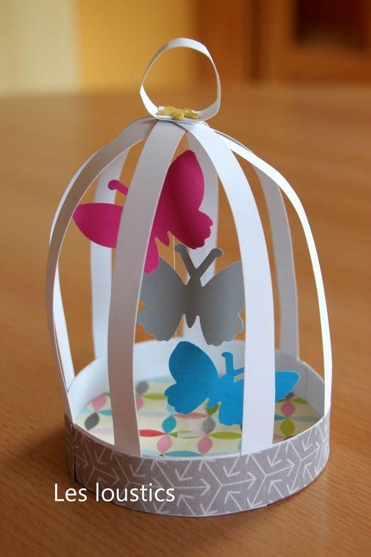 cage papillons les loustics loisirs creatifs pinterest papillon bricolage et. Black Bedroom Furniture Sets. Home Design Ideas