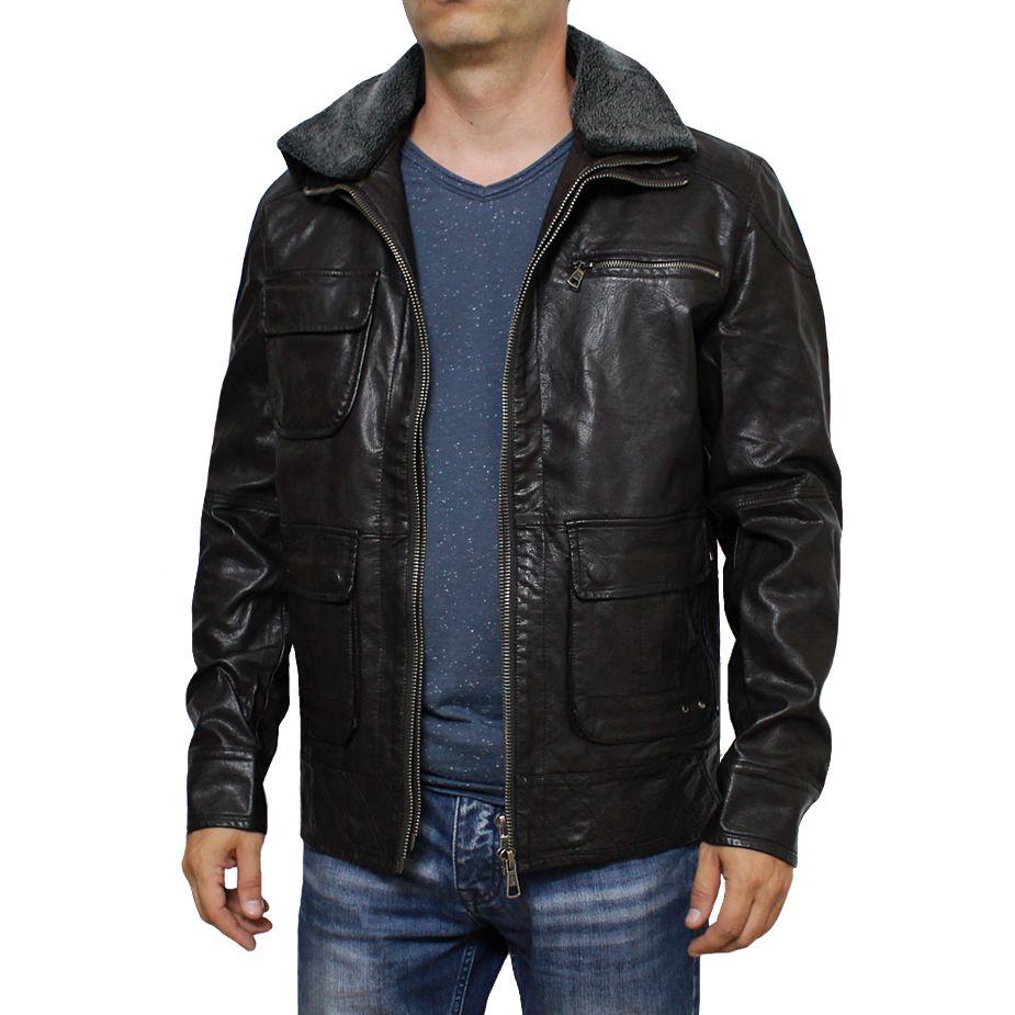 fd1d6fbff68 Мъжко яке DAVID | Якета и Елеци | Jackets, Leather jacket, Leather