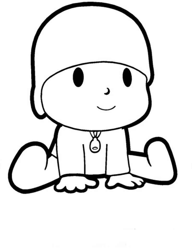 Pocoyo Coloring Pages For Kids | Free kids coloring pages ...