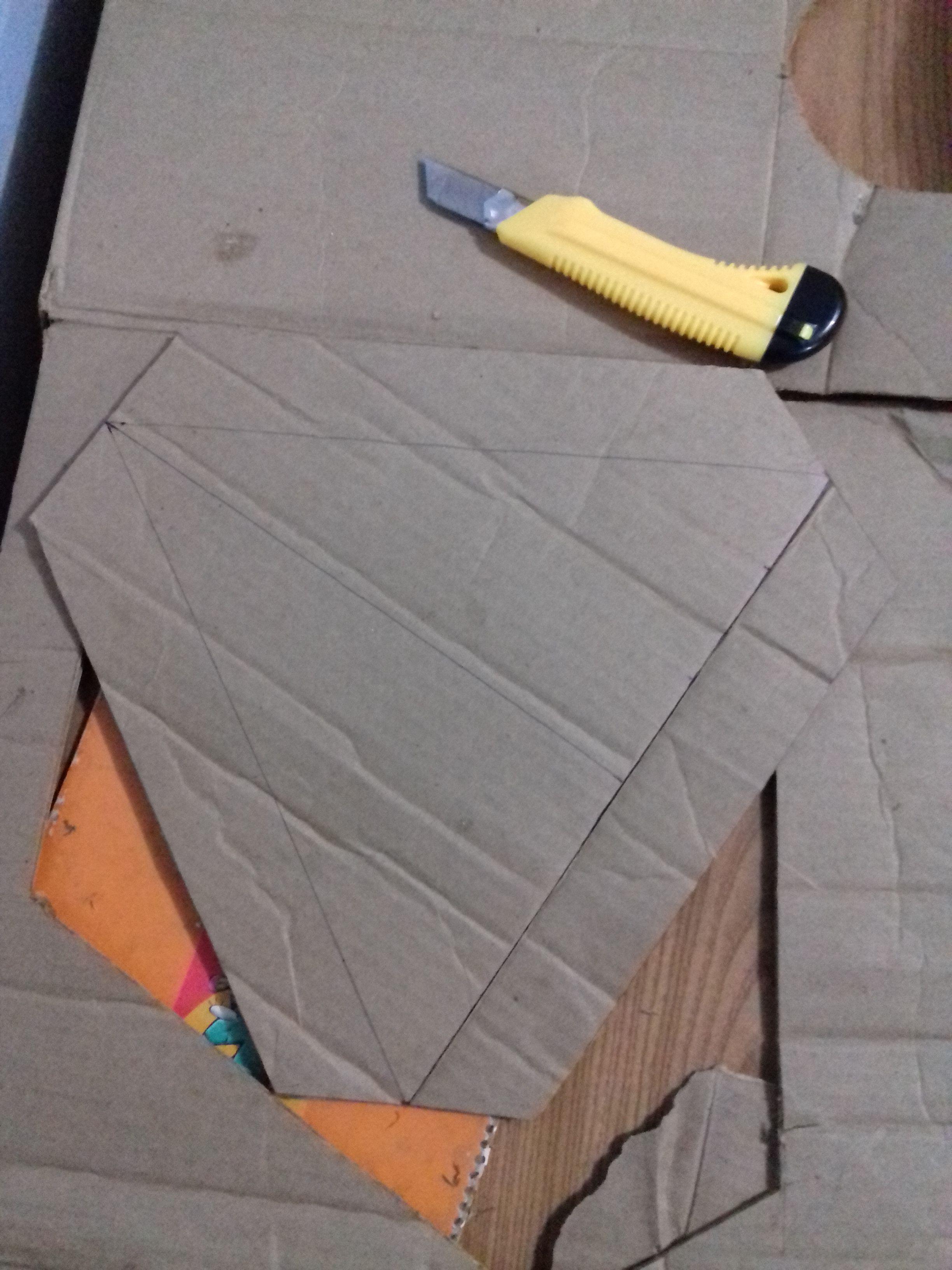 dar el diseño y cortar!/ igloo de carton