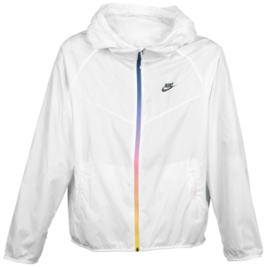Nike RU Solid LW Windrunner Jacket - Men s - White Black  2bba5bd65