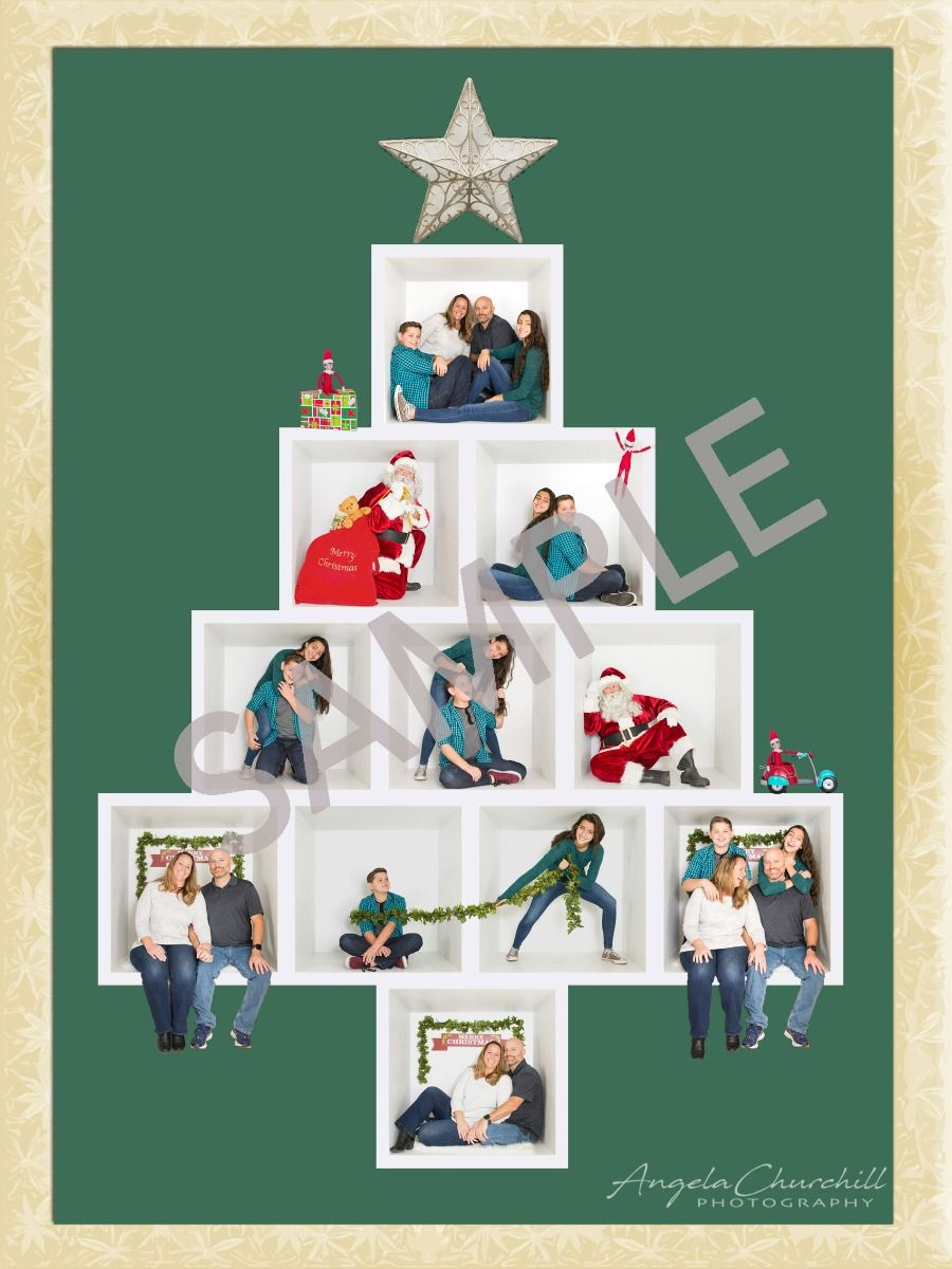Santa In The Box Pngs Make Your Own Bundle 3 Each Over 21 To Choose From Box Design Templates Photo Box Christmas Templates