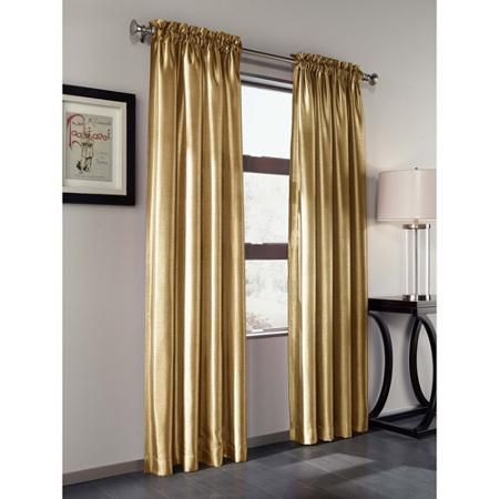Treasure Faux Silk Curtain Panel Set Of 2