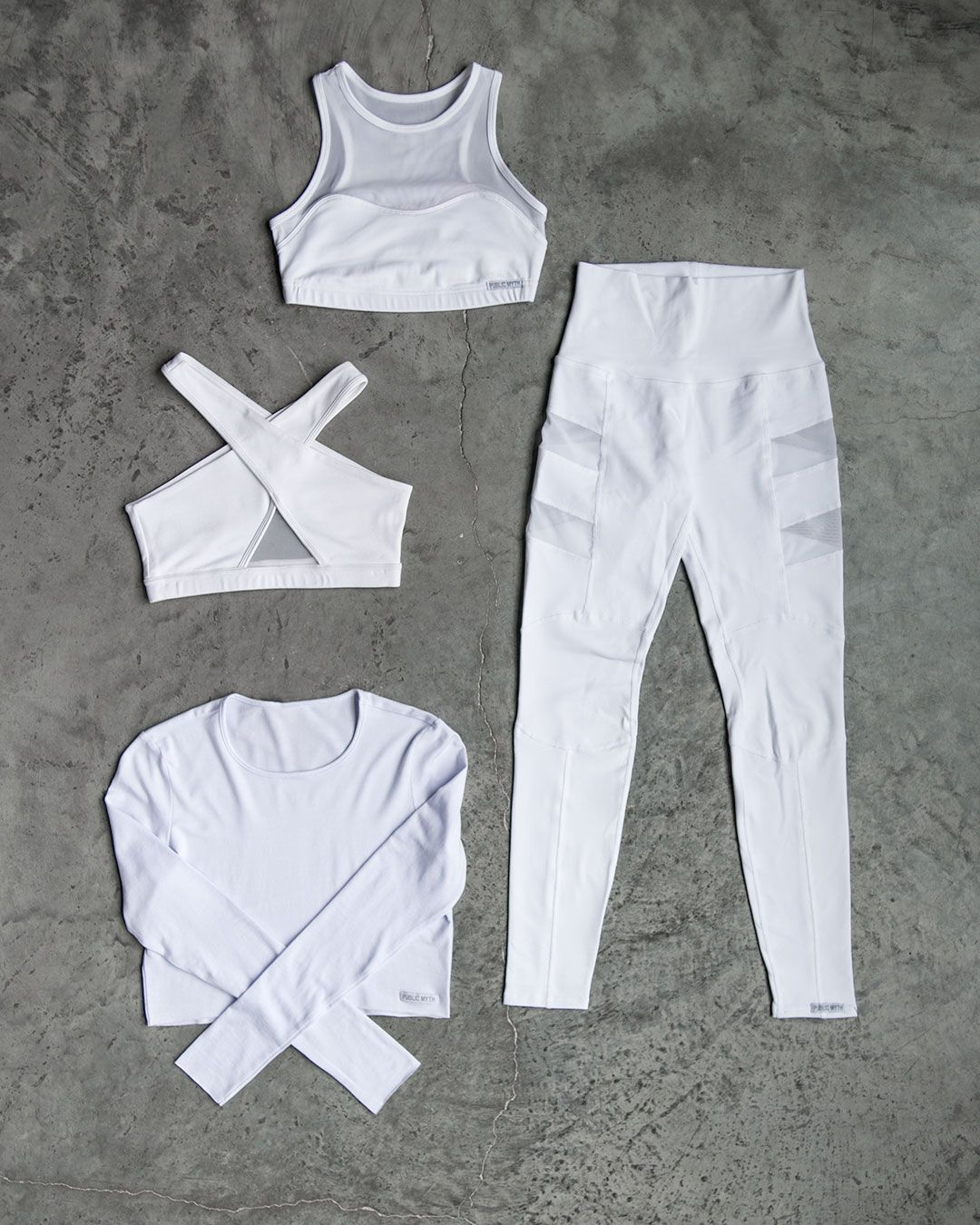 All WHITE everything! Shop our High Rise Empire Leggings