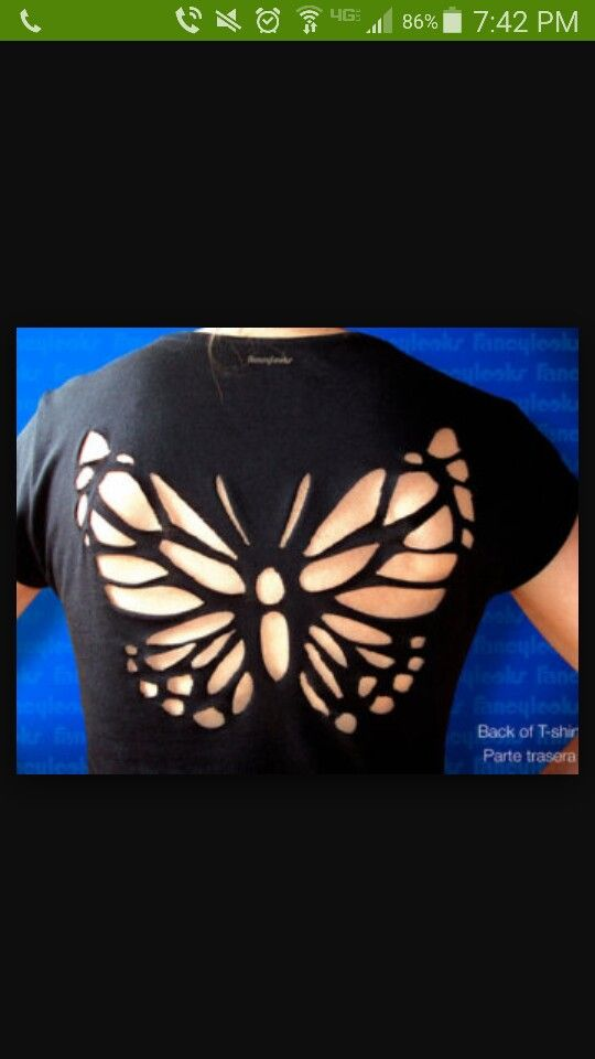 Cool butterfly cut out shirt