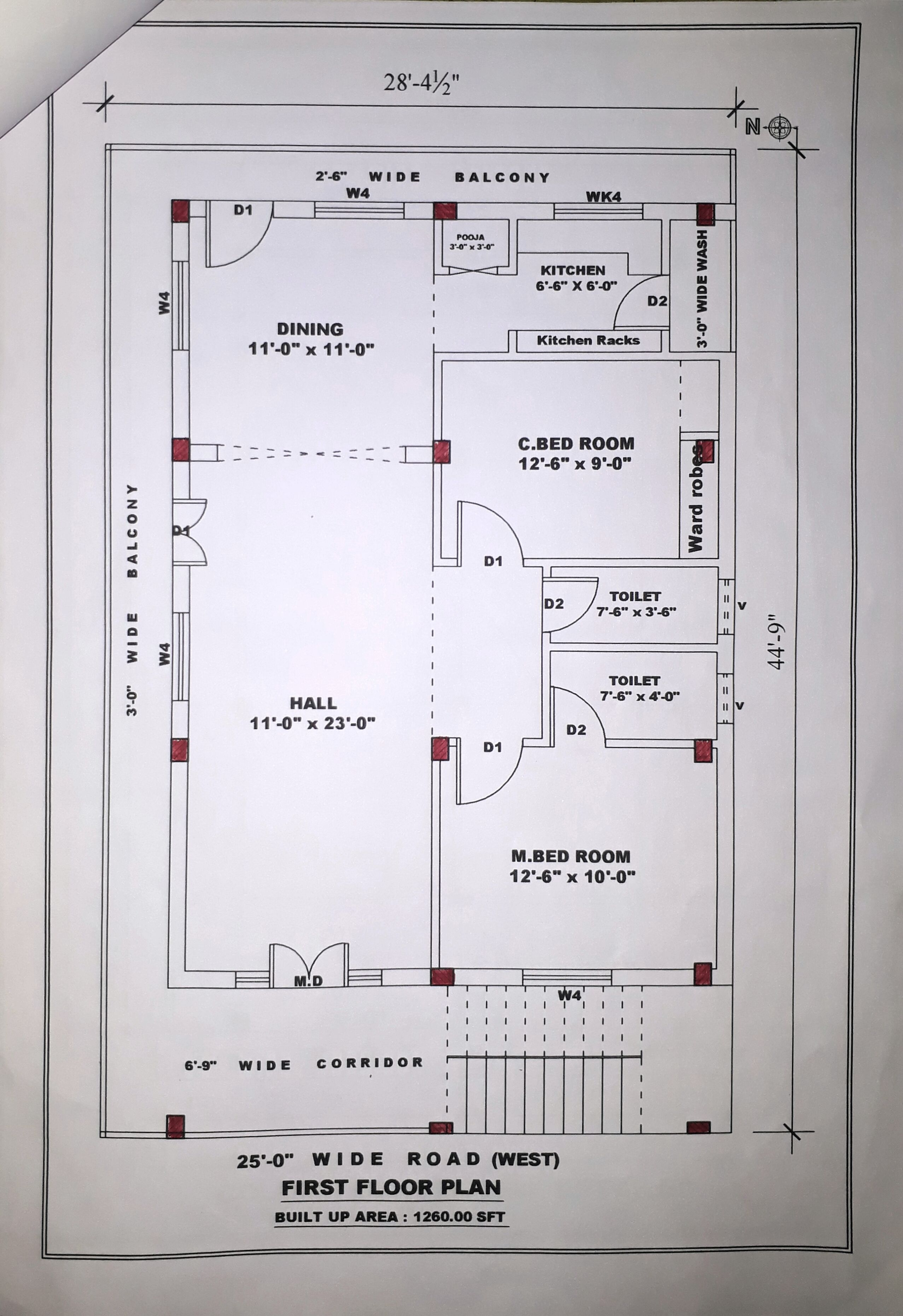 Image Result For 2 Bhk Floor Plans Of 25 45 20x40 House Plans 30x40 House Plans 2bhk House Plan