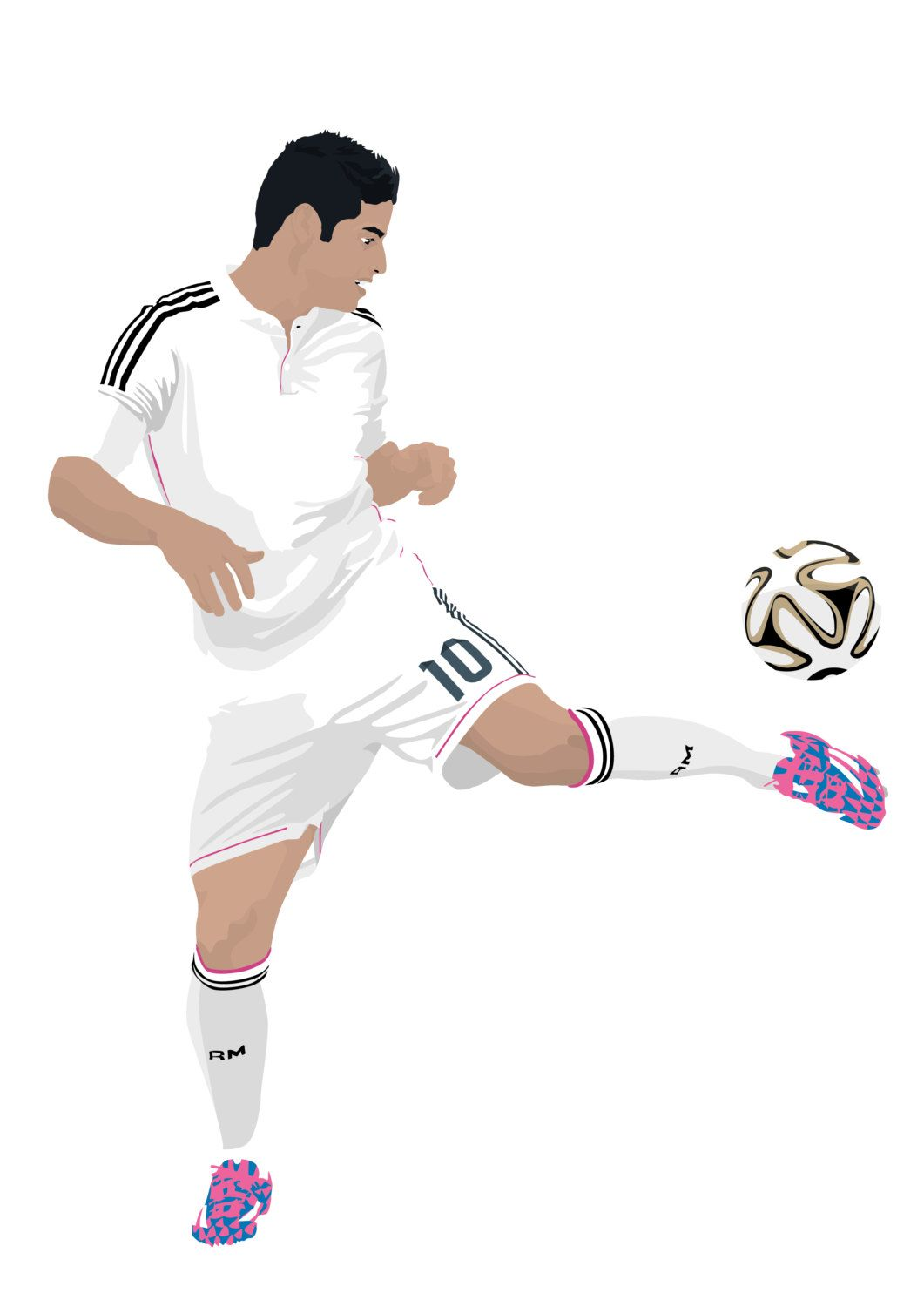 James Rodriguez A3 Cartel 297mmx420mm Real Madrid Por Entiredesign