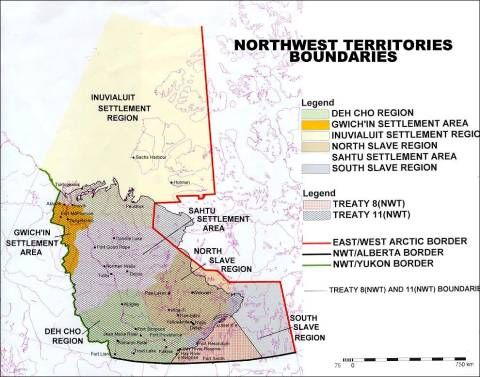 This map available from the Government of the Northwest Territories