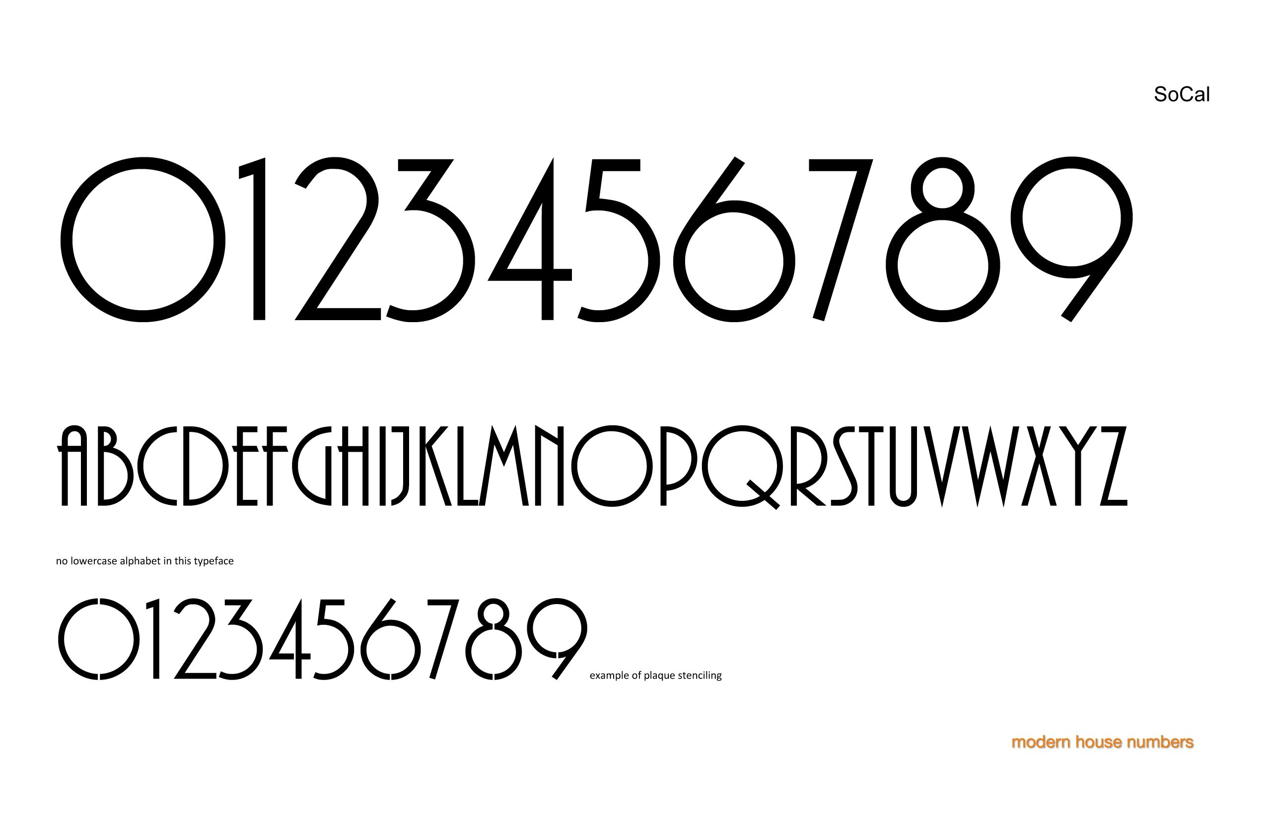 Check out our modern house numbers socal font www modernhousenumbers com