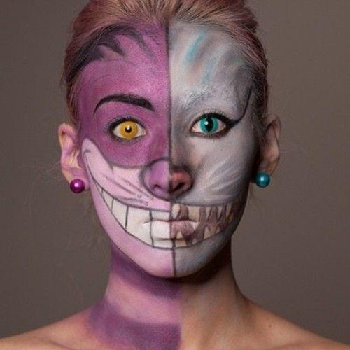 Marisa Hair Beauty On Instagram Wow This Is Amazing Face Art Makeup Creative Love Faceart Cheshire Cat Makeup Halloween Makeup Cat Makeup