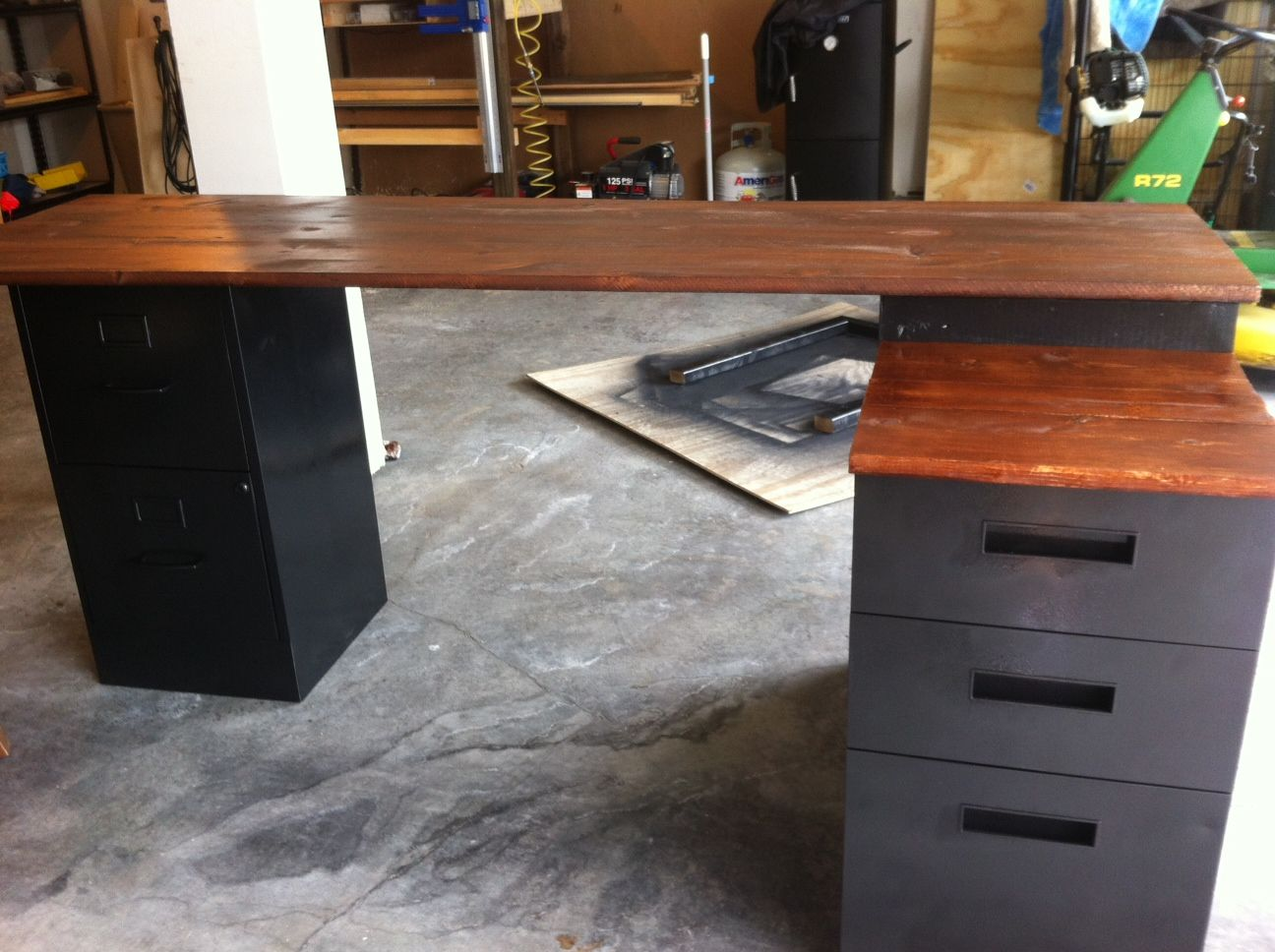 Homemade Desk Ideas Part - 33: DIY #L Shape Desk (desk Plans)