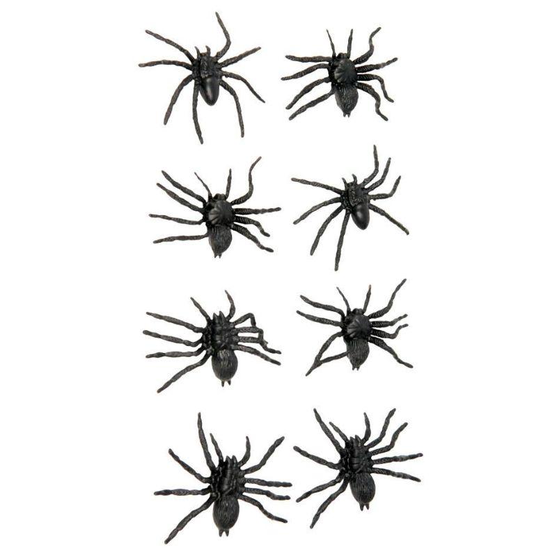 Bolsa con 8 Arañas #decoraciónhalloween #fiestahalloween