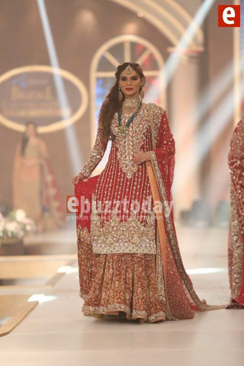 #RaniEmaan presenting  in telenor Pakistan bridal coutour week Dec2015 pinned by #sidrayounas