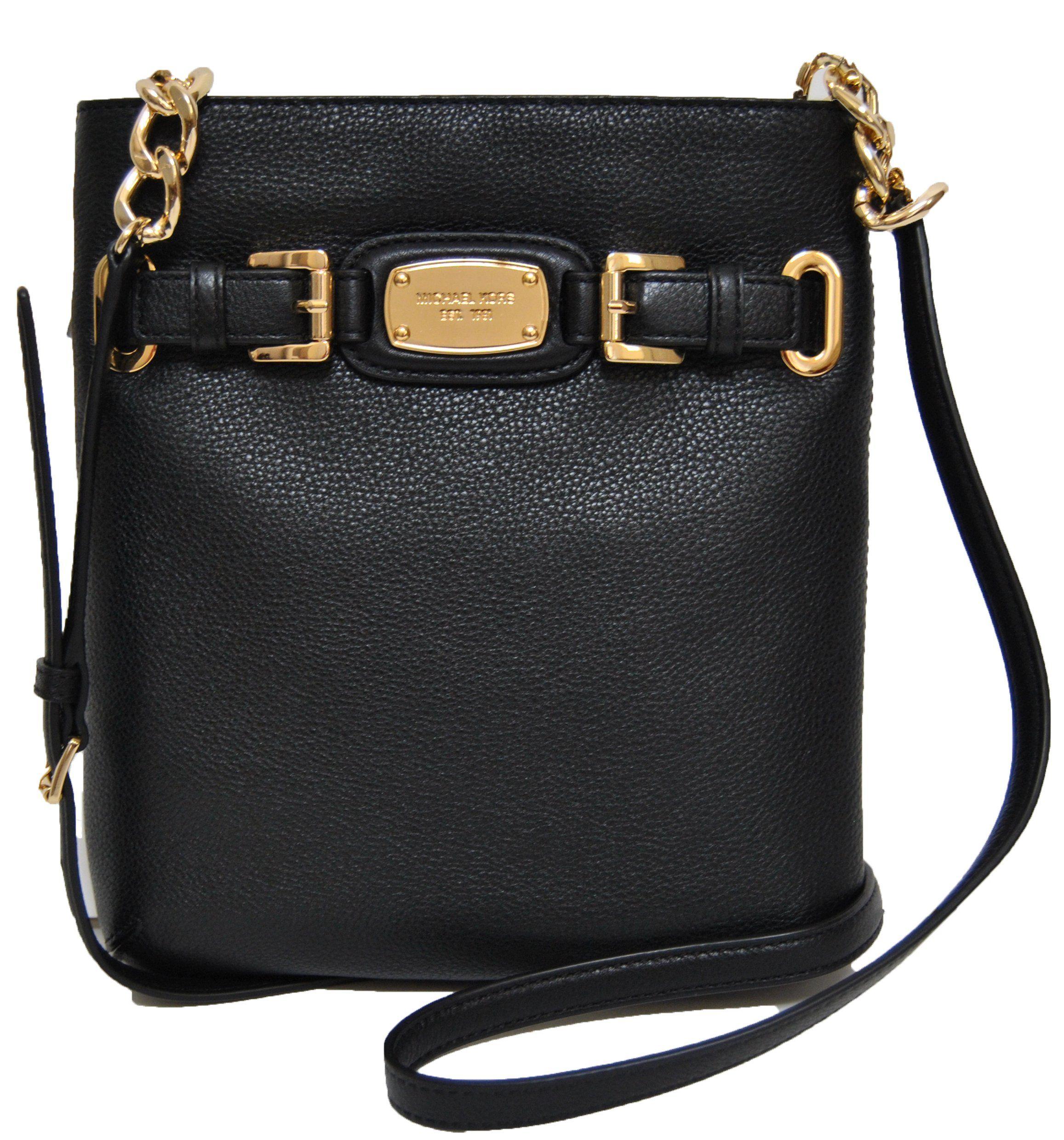 Michael Kors Hamilton Large Crossbody Black Leather: Handbags: Amazon.com