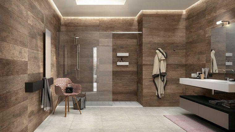 Arredo bagno in stile vintage con pareti in legno bathrooms