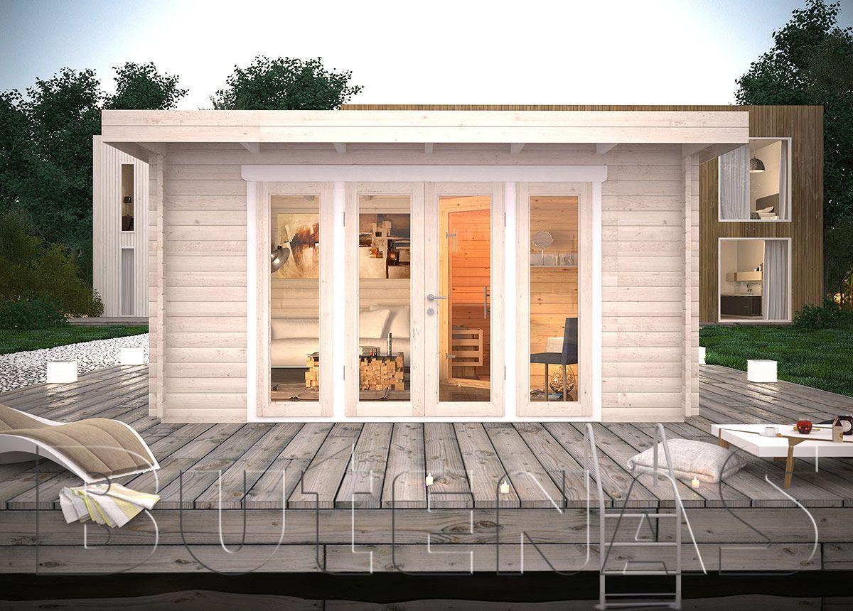 das gartenhaus panorama mit flachdach ist aus 45 mm. Black Bedroom Furniture Sets. Home Design Ideas
