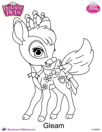 Disney Princess Palace Pets Gleam Coloring Page