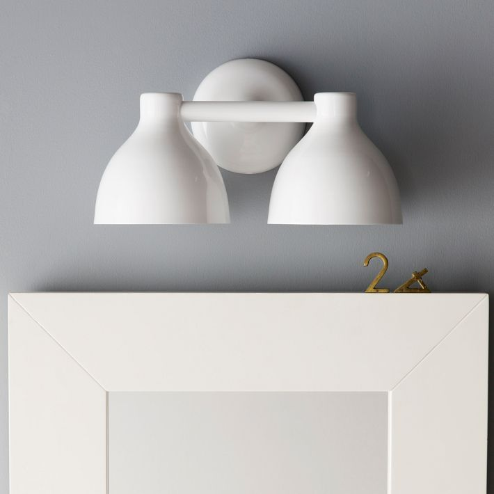 Double The Light With The Contour Double Sconce // West Elm Light. Bathroom  ...