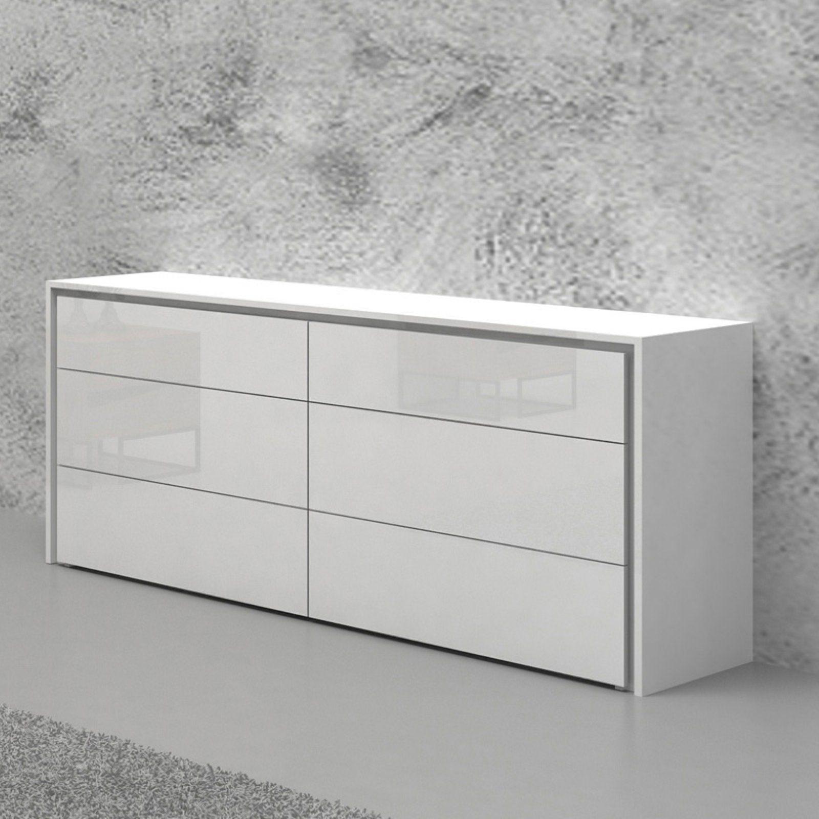 Casabianca Home Zen 6 Drawer Dresser High Gloss White Bedroom Furniture Dresser Dresser Drawers Vintage Bedroom Furniture [ 1600 x 1600 Pixel ]