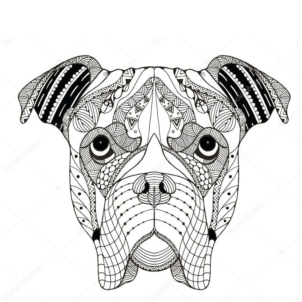 Boxer Dog Tattoo Boxer Dogs Art Boxer Dog Tattoo Dog Coloring Page
