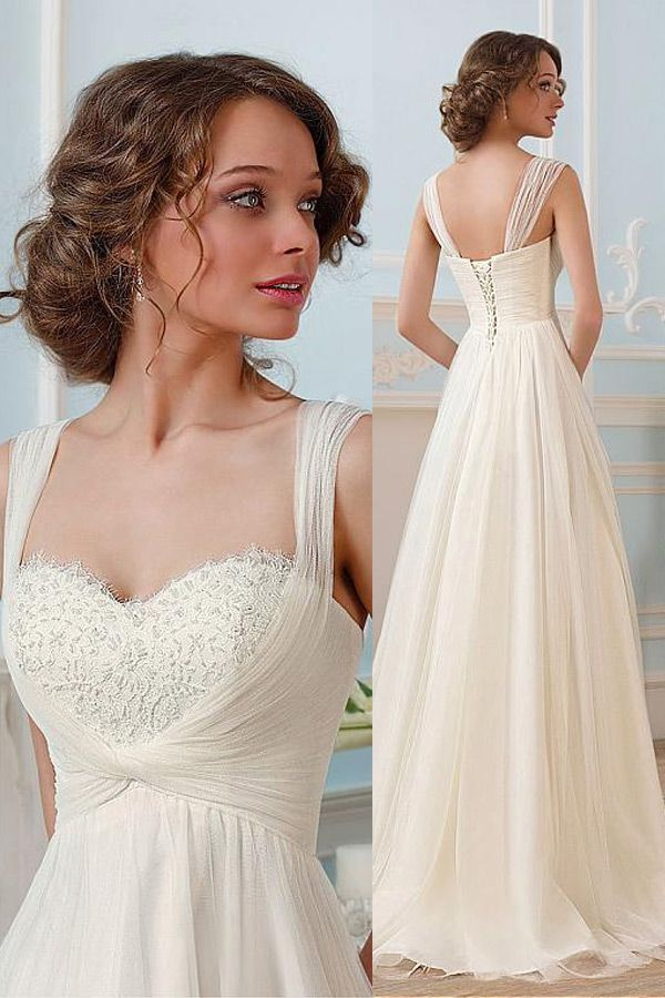 Glamorous Tulle Sweetheart Neckline A-line Wedding Dresses With Beadings bdadc75cde2c