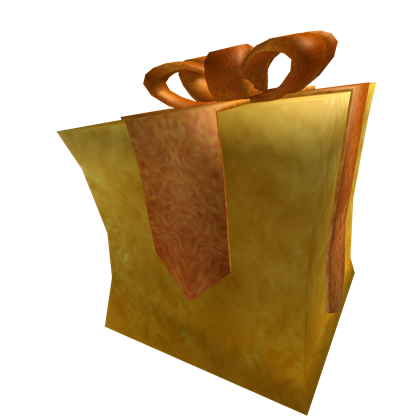 Opened Glowing Gold Gift Of Superuser A Hat By Roblox Roblox