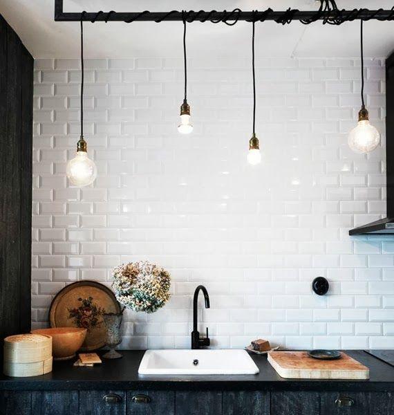 lâmpada sem lustre - fio e bocal colorido - faça você mesmo - ideia ...