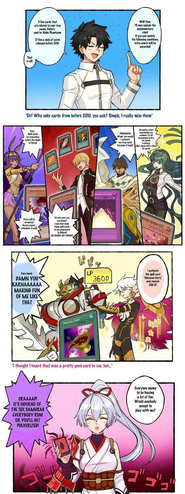 2010 Cards Yugioh tbh Fate anime series, Fate stay night