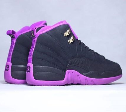 0937396bdd7 Dressed in a Black Metallic Gold Star and Hyper Violet color scheme. This Air  Jordan 12 features a full Black-based upper that dons minor hints of  Metallic ...