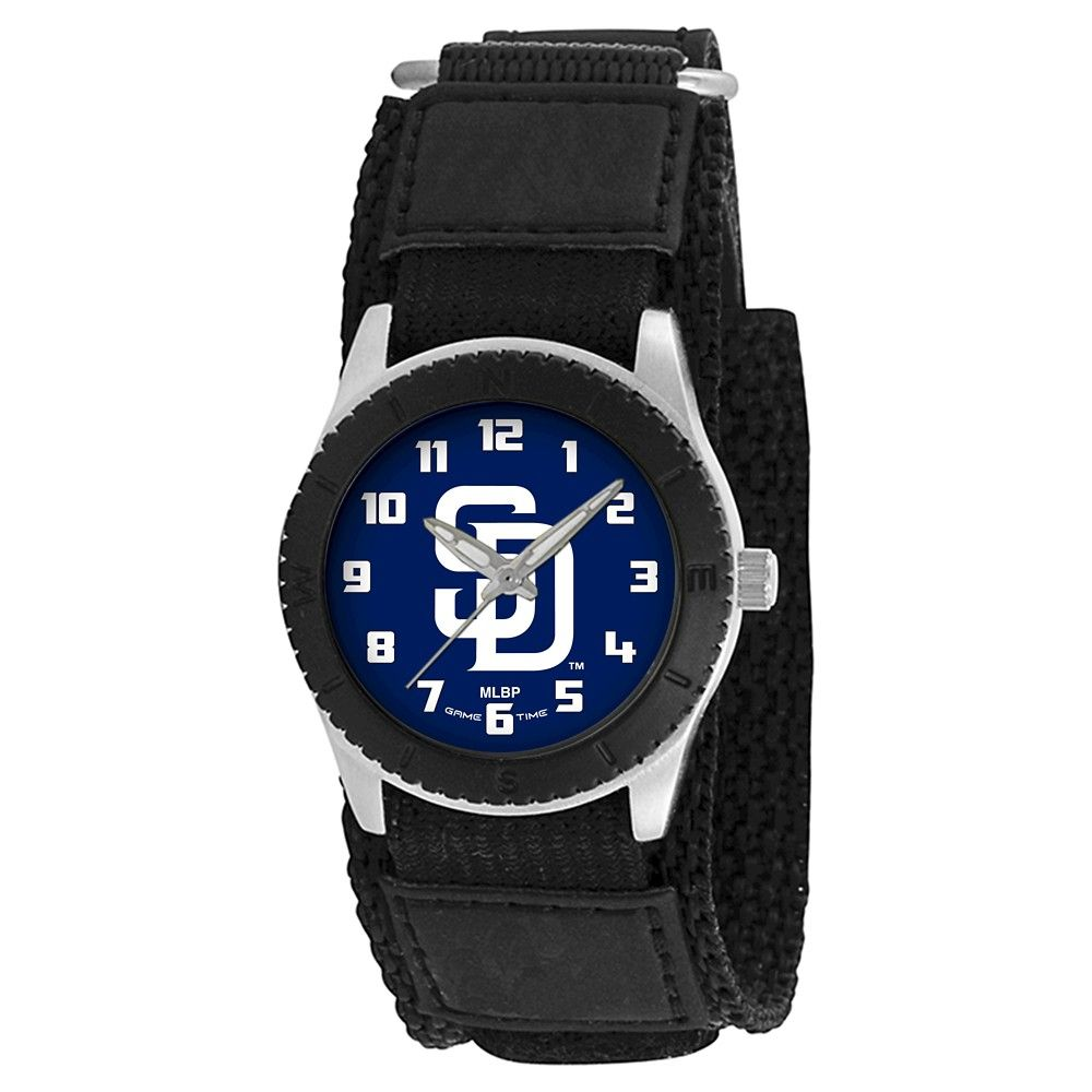Youth Game Time MLB Rookie Sports Watch - Black - San Diego Padres, Kids Unisex