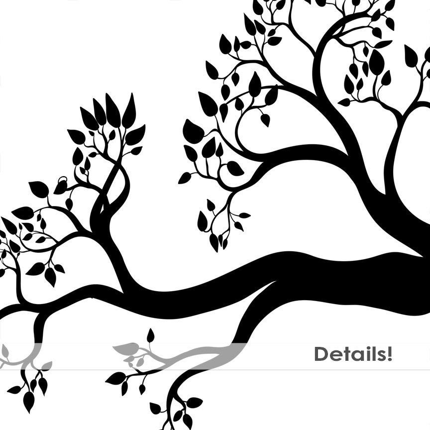 Tree Branch Silhouettes Leaves Branch Clipart Tree Branch Etsy In 2021 Art Images Tree Stencil Bird Art Print