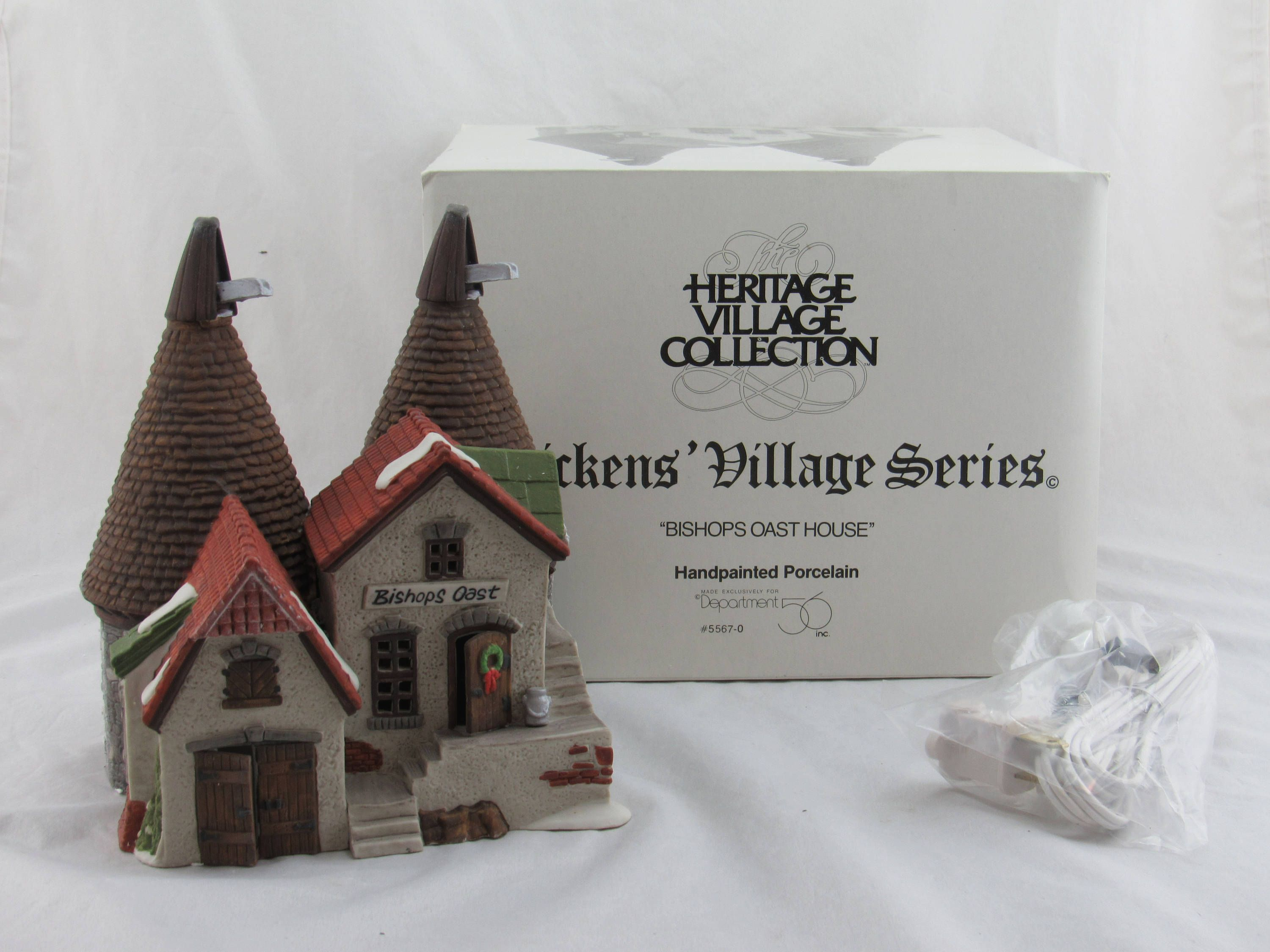Dept 56 Dickens Village Bishops Oast House 55670 In Original Box With Cord  By LovelyTeaCupsandMore On