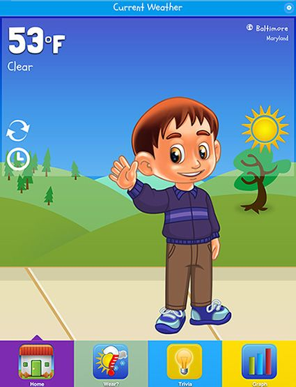 Kid Weather a fun education new app for iPhone and Android