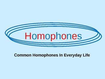 "HOMOPHONES POWERPOINT LESSON!...63 slides in all. Designed for use as a whole-class lesson getting students actively involved in the answers. Homophones in this program include: ""its or it's"", ""you're or your"", ""they're, their or there"". Students must use context clues to help them select the correct spelling. Great lesson and activity with total class involvement. Enjoy!"