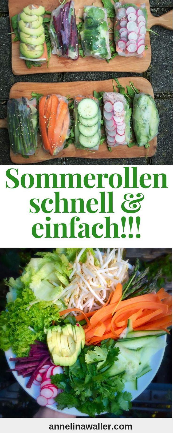 Summer Rolls #veganerezeptemittag